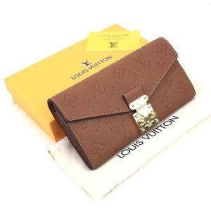 Brown Louis Vuitton Pallas Wallet